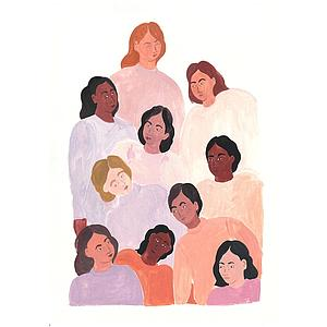 Women in mauve