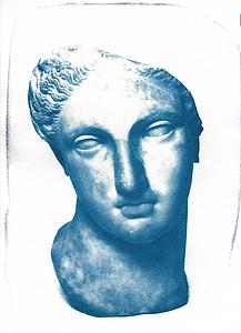 Greek woman bust sculpture