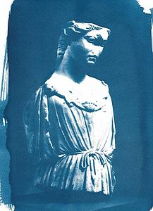 Roman female bust sculpture